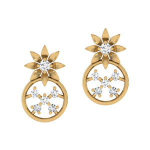 The Floral Dream Diamond Stud Earrings