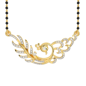 The Opportune Mangalsutra With Black Beads Gold Chain