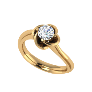 Love Swirls Around Me Solitaire Diamond Ring