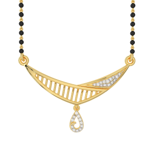 The Contemporary Bash  Mangalsutra With Black Beads Gold Chain