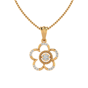 Inflorescence Diamond Pendant