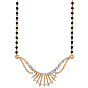 The Gorgeously Mangalsutra With Black Beads Gold Chain