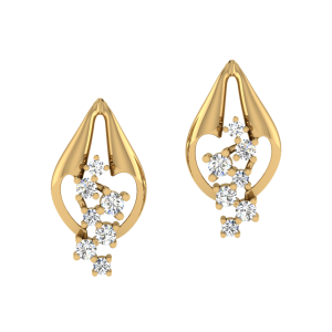 The Richness Of Raindrops Diamond Stud Earrings