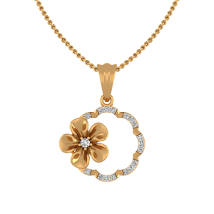 Floral Frame Diamond Pendant