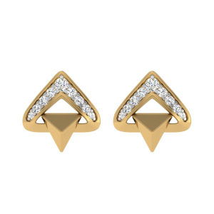 The Triangle Theory Diamond Stud Earrings