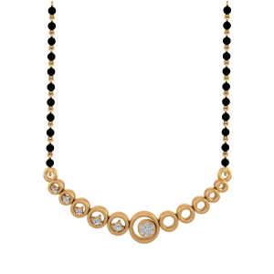 The Celestial Mangalsutra With Black Beads Gold Chain