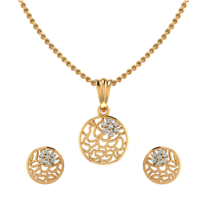 Bloom Retake Diamond Pendant Set