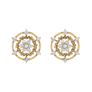 The Pollen Grains Diamond Stud Earrings