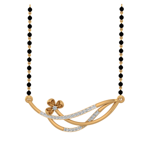 The Scintillating Mangalsutra With Black Beads Gold Chain