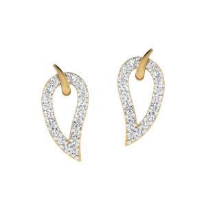 The Leaf Speaks Bliss Diamond Stud Earrings