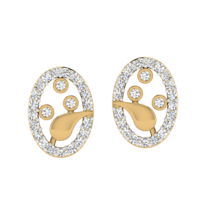 The Sunrise Boulevard Diamond Stud Earrings