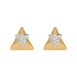 The Conjoined Diamond Stud Earrings