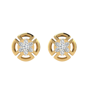 Floral Way To Say Diamond Stud Earrings
