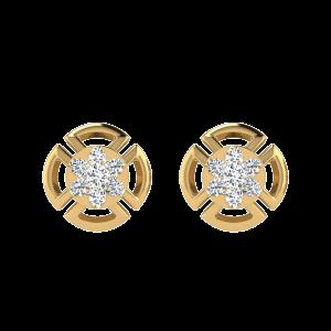 Floral Way To Say Diamond Stud Earrings