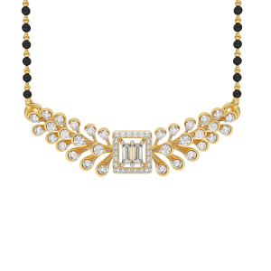The Immaculateness Mangalsutra With Black Beads Gold Chain