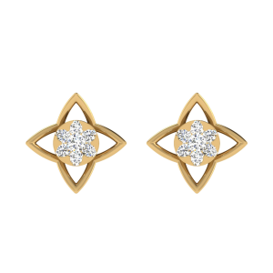The Twinkly Stars Diamond Stud Earrings