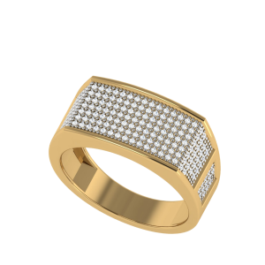 Starry Exposure Men`s Diamond Ring