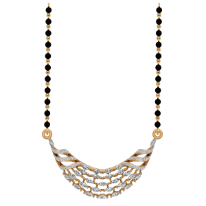 The Fascinating Mangalsutra With Black Beads Gold Chain
