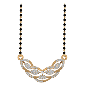 The Radiant Mangalsutra With Black Beads Gold Chain