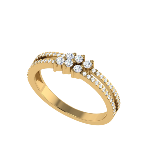 The Diamond Dazzle Daily Wear Ring