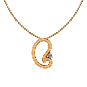 Paisley Tone Gold Diamond Pendant