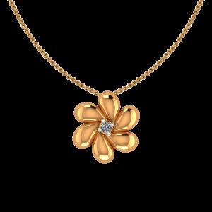 Awesome Gold Flower Diamond Pendant