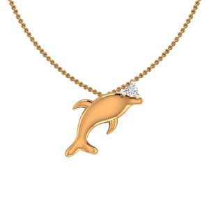 Awesome Fish Diamond Pendant