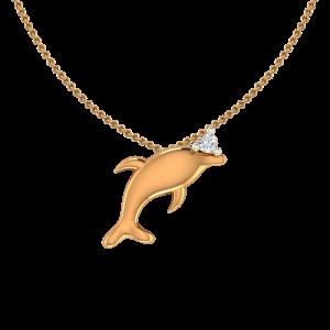 Awesome Fish Diamond Pendant