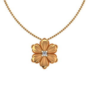 Awesome Flower Diamond Pendant