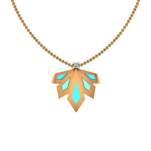 Golden Stitch Diamond Pendant