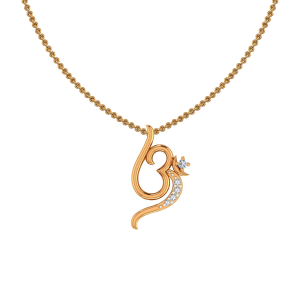 Awesome Om Diamond Pendant