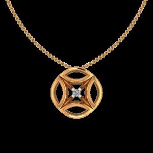 The Trivia Gold Diamond Pendant