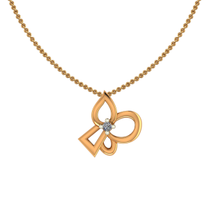 Jolly You Gold Diamond Pendant