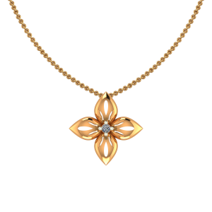 The Flower Gold Diamond Pendant