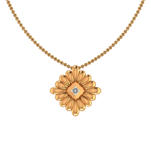 The Blossom Gold Diamond Pendant