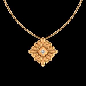 The Blossom Gold Diamond Pendant