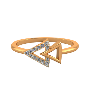 Fast Forward Gold Diamond Ring