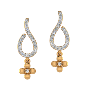 The Floral Art Diamond Dangle Earrings