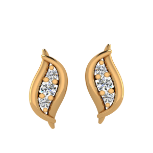 The Designer Loop Diamond Stud Earrings