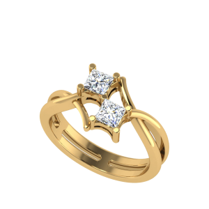 You & Me Forever Solitaire Diamond Ring