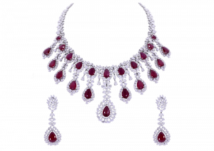 The Princess Flower Ruby & Diamond Necklace