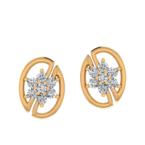 The Floral Code Diamond Stud Earrings