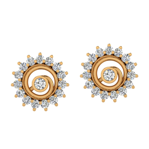 The Disco Music Diamond Stud Earrings