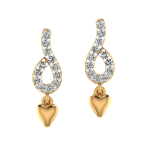 The Pretty Heart Diamond Drop Earrings