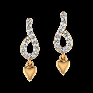 The Pretty Heart Diamond Drop Earrings