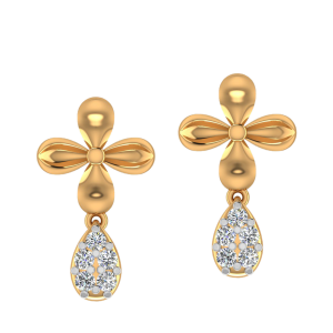 The Floral Dew Diamond Drop Earrings