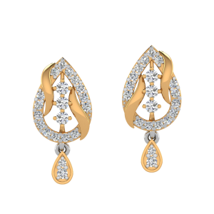The Leafy Crown Diamond Stud Earrings