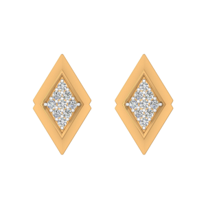 The Vibrant Center Diamond Stud Earrings