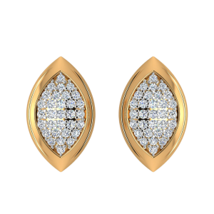 The Diamond Spectacle Stud Earrings
