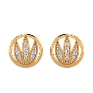 The Lotus Poem Diamond Stud Earrings